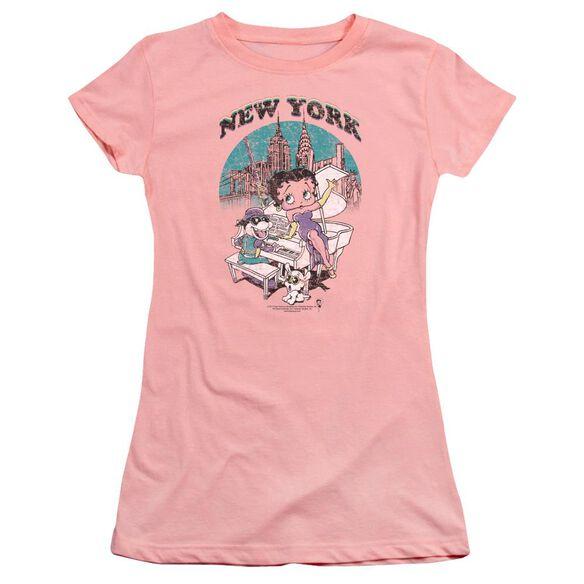 Betty Boop Singing In Ny Premium Bella Junior Sheer Jersey