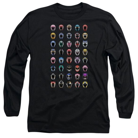 Power Rangers Visual Timeline Long Sleeve Adult T-Shirt