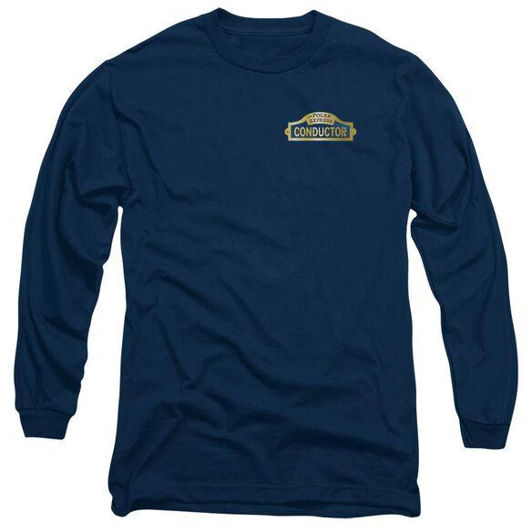 Polar Express Conductor Long Sleeve Adult T-Shirt