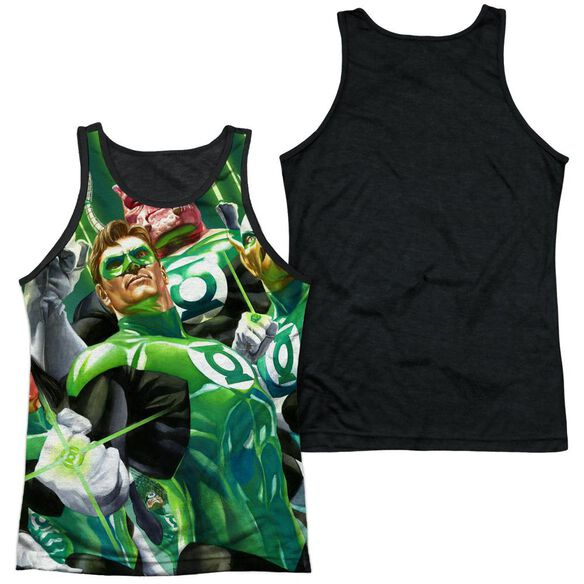 Green Lantern High Beams Adult Poly Tank Top Black Back