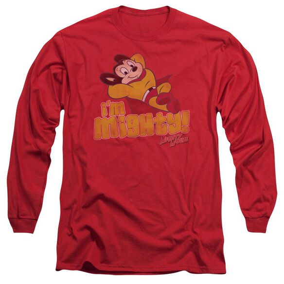 Mighty Mouse Im Mighty Long Sleeve Adult T-Shirt