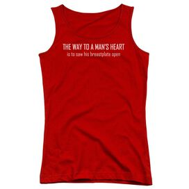 Way To A Mans Heart-juniors Tank Top