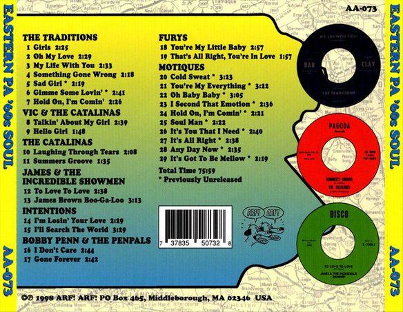 Eastern Pa 60's Soul / Various