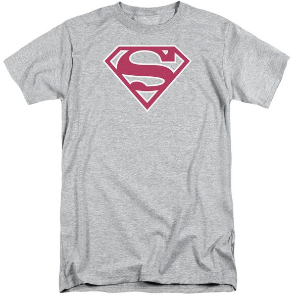 Superman Red & White Shield Short Sleeve Adult Tall Athletic T-Shirt