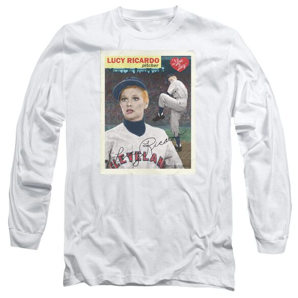 I Love Lucy Trading Card Long Sleeve Adult T-Shirt