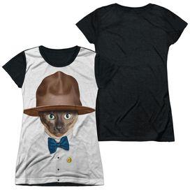 Pets Rock Purrell Short Sleeve Junior Poly Black Back T-Shirt