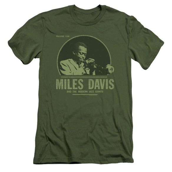 Miles Davis The Miles Short Sleeve Adult Military T-Shirt