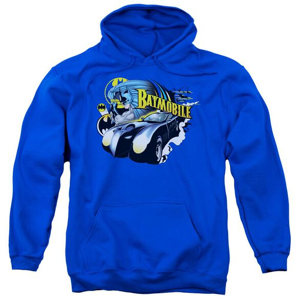 Batman Batmobile Adult Pull Over Hoodie Royal