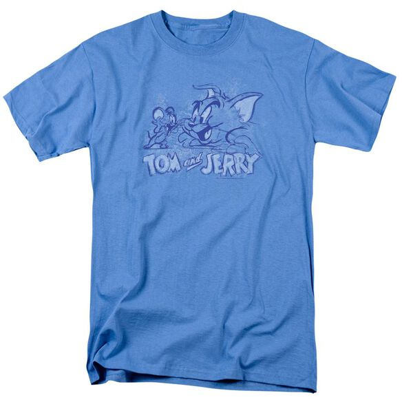 Tom And Jerry Sketchy Short Sleeve Adult Carolina T-Shirt