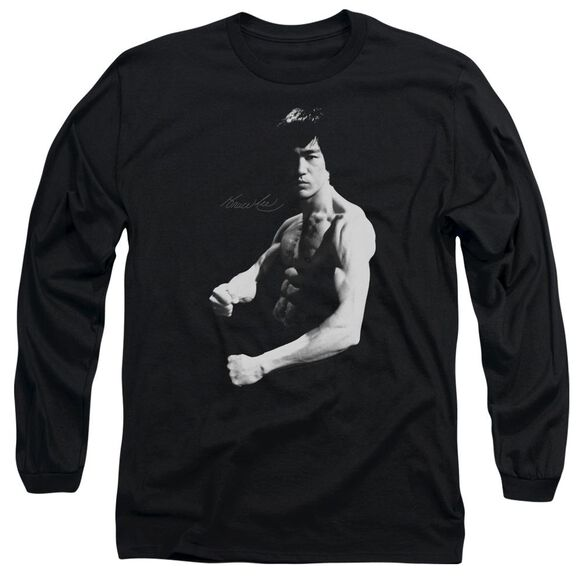 Bruce Lee Stance Long Sleeve Adult T-Shirt