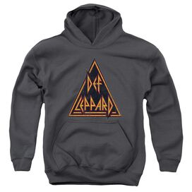Def Leppard Distressed Logo Youth Pull Over Hoodie