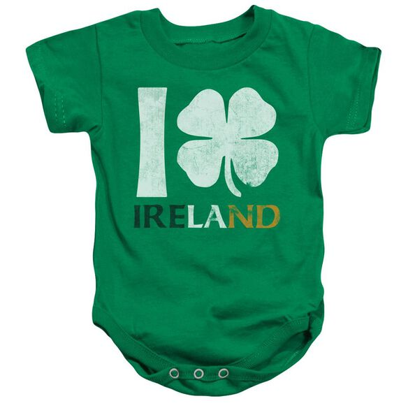 I Love Ireland Infant Snapsuit Kelly Green