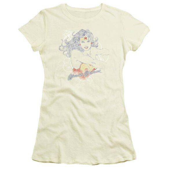 Dco Jla Sketch Truth Short Sleeve Junior Sheer T-Shirt