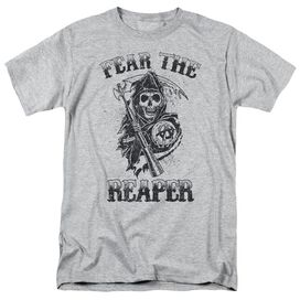 Sons Of Anarchy Fear The Reaper Short Sleeve Adult Athletic Heather T-Shirt
