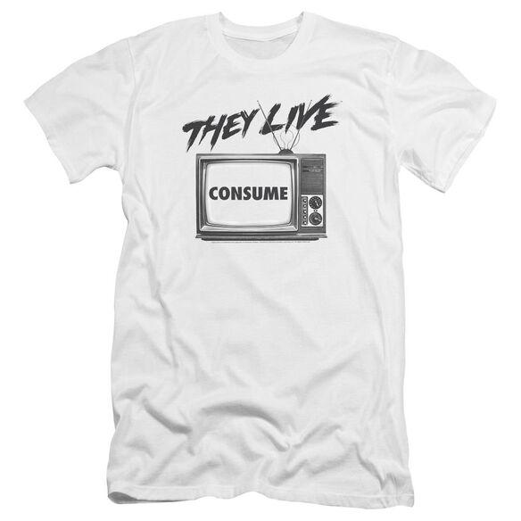 They Live Consume Premuim Canvas Adult Slim Fit