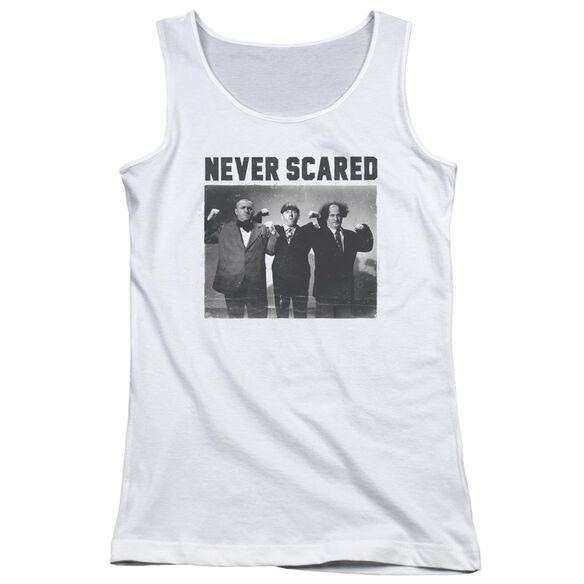 Three Stooges Never Scared Juniors Tank Top