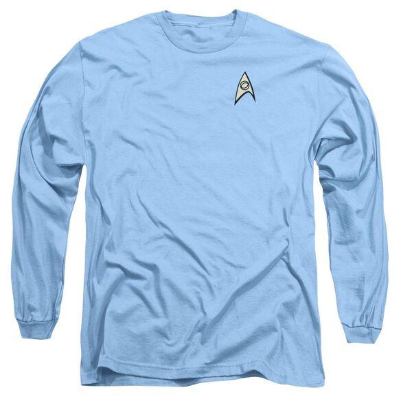 STAR TREK SCIENCE UNIFORM - L/S ADULT 18/1 - CAROLINA BLUE T-Shirt