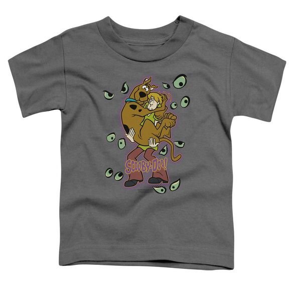 Scooby Doo Being Watched Short Sleeve Toddler Tee Charcoal T-Shirt