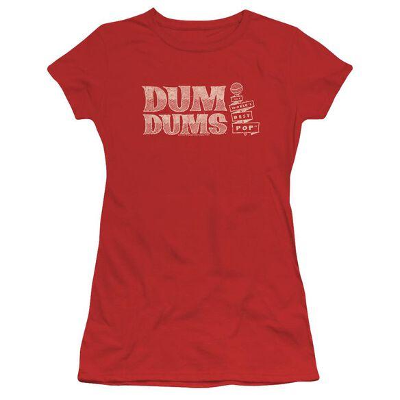 Dum Dums World's Best Short Sleeve Junior Sheer T-Shirt