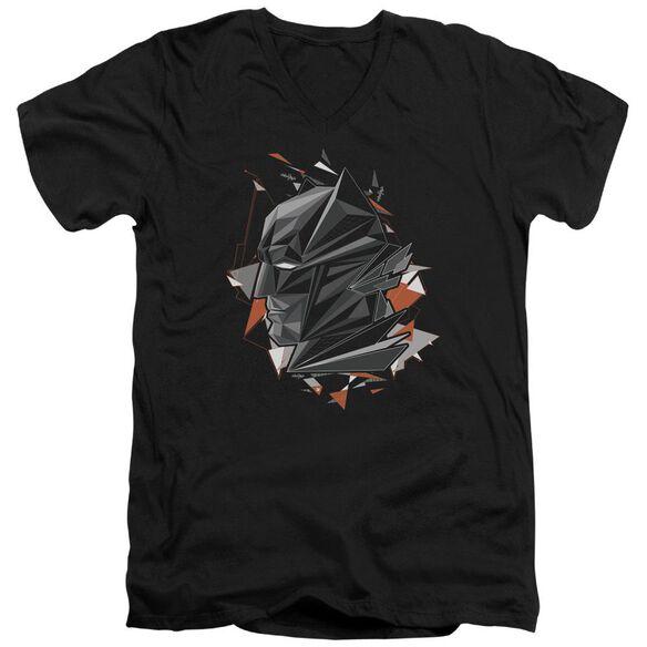 Batman V Superman Bat Head Tech Short Sleeve Adult V Neck T-Shirt