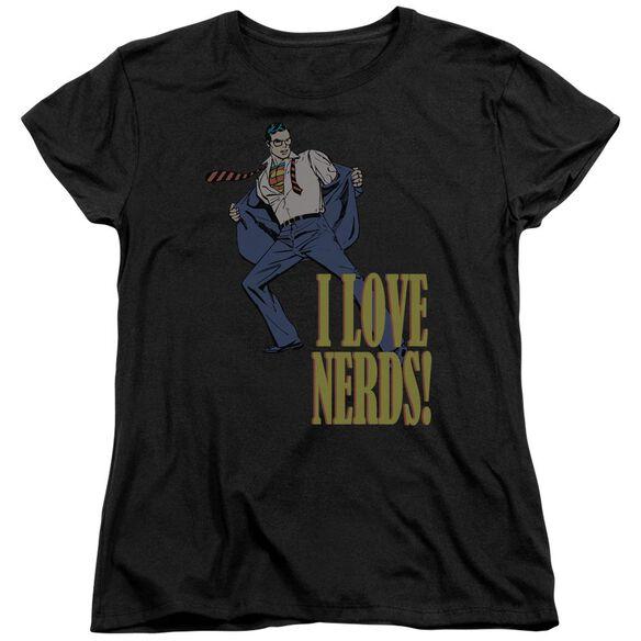 Dc I Love Nerds Short Sleeve Womens Tee T-Shirt