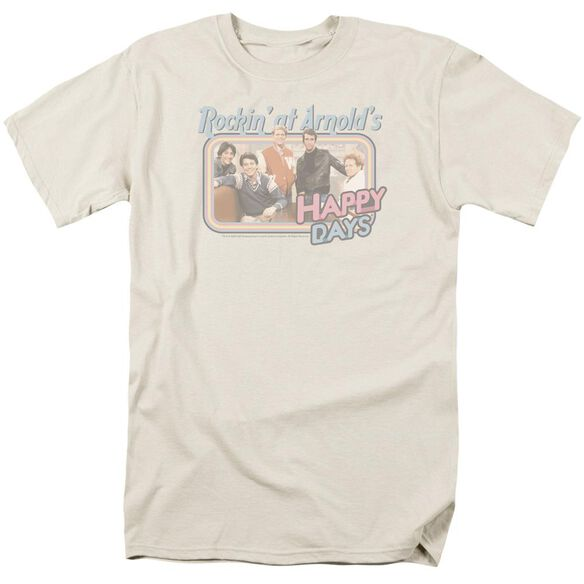 Happy Days Rockin' At Arnold's Short Sleeve Adult Cream T-Shirt
