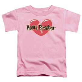 Heart Breaker Short Sleeve Toddler Tee Pink Md T-Shirt