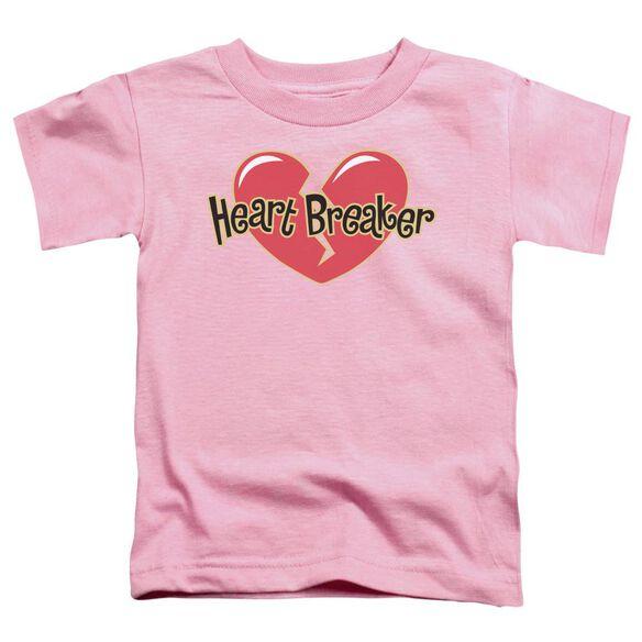 Heart Breaker Short Sleeve Toddler Tee Pink Md T-Shirt