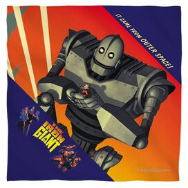 Iron Giant It Came From Space Bandana White