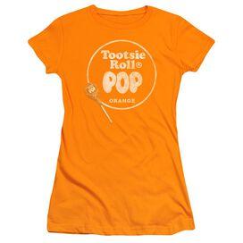 Tootsie Roll Pop Logo Short Sleeve Junior Sheer T-Shirt