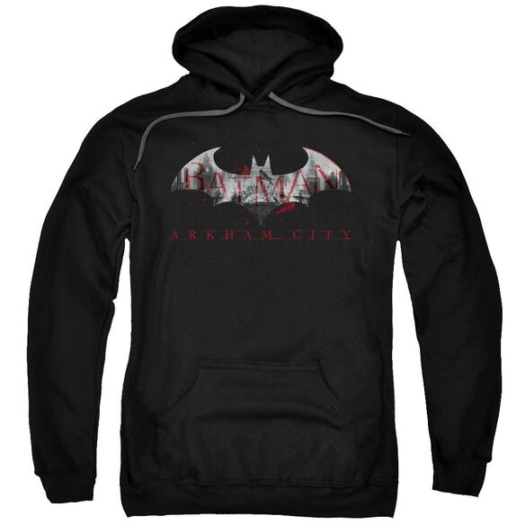 Arkham City Bat Fill Adult Pull Over Hoodie