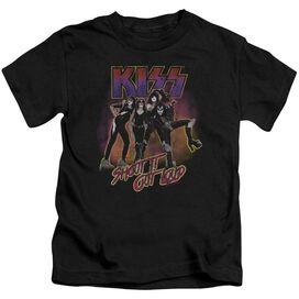 Kiss Shout It Out Loud Short Sleeve Juvenile T-Shirt