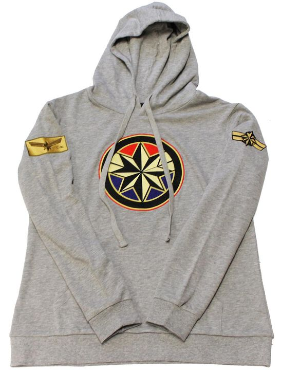 Captain Marvel with Classic Patches Women's Hoodie