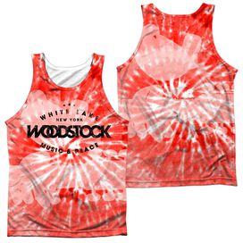 Woodstock Tie Dye (Front Back Print) Adult 100% Poly Tank Top