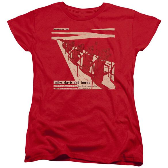 Miles Davis Davis And Horn Short Sleeve Womens Tee T-Shirt
