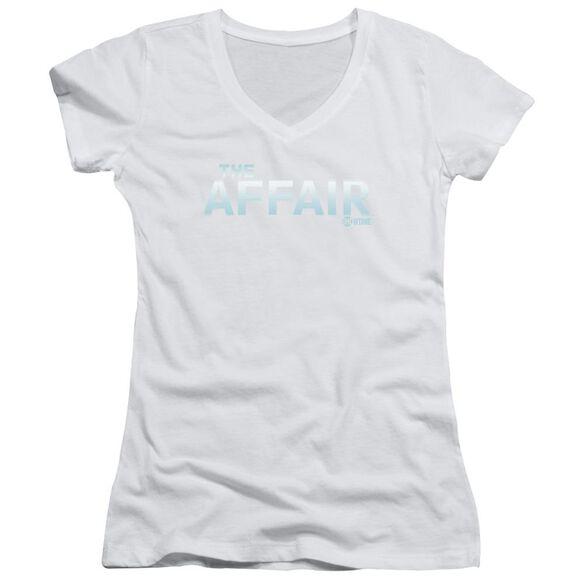 Affair Logo Junior V Neck T-Shirt