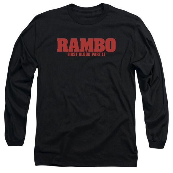 Rambo:First Blood Ii Logo Long Sleeve Adult T-Shirt