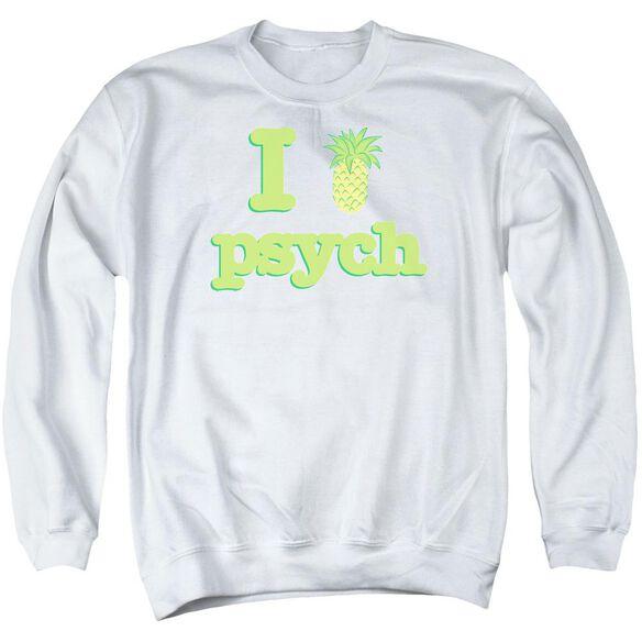 Psych I Like Psych Adult Crewneck Sweatshirt