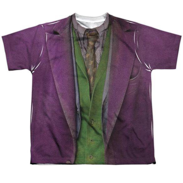 Dark Knight Joker Costume Short Sleeve Youth Poly Crew T-Shirt
