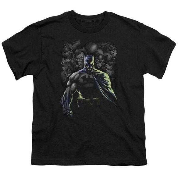 BATMAN VILLAINS UNLEASHED - S/S YOUTH 18/1 - BLACK T-Shirt