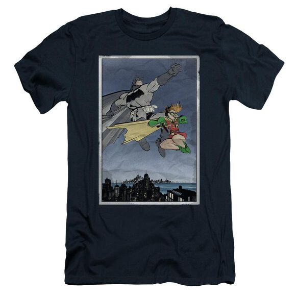 BATMAN DKR DUO - S/S ADULT 30/1 - NAVY T-Shirt