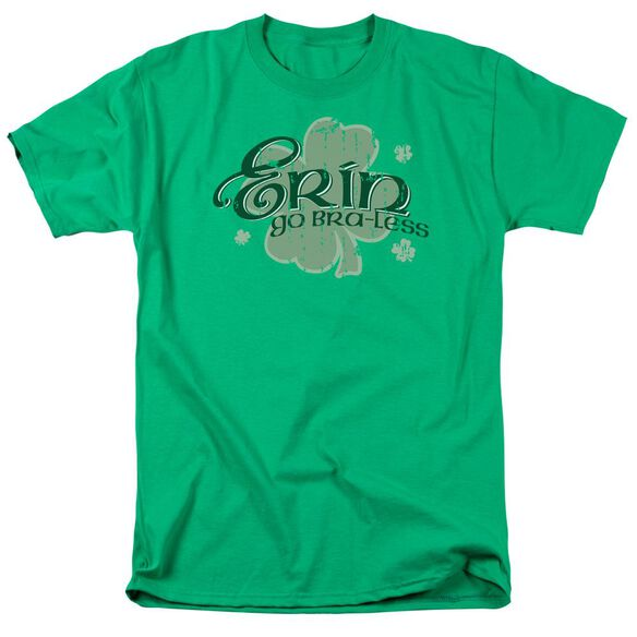 Erin Go Braless Short Sleeve Adult Kelly Green T-Shirt