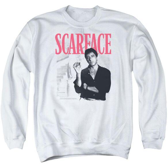 Scarface Stairway Adult Crewneck Sweatshirt