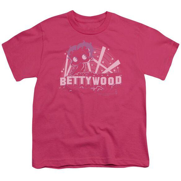 Betty Boop Bettywood Short Sleeve Youth Hot T-Shirt