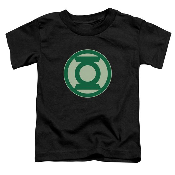 Green Lantern Green Symbol Short Sleeve Toddler Tee Black Sm T-Shirt
