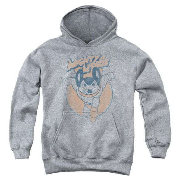 Mighty Mouse Flying With Purpose Youth Pull Over Hoodie