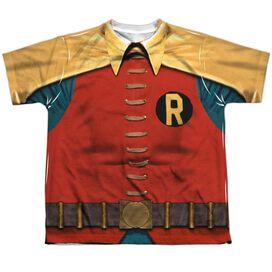 Batman Classic Tv Robin Costume Short Sleeve Youth Poly Crew T-Shirt