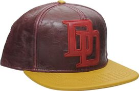 Daredevil DD Logo Faux Leather Snapback Hat