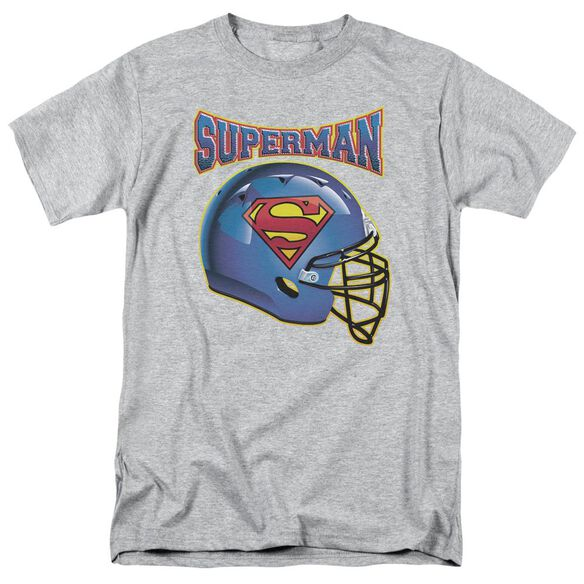 Superman Helmet Short Sleeve Adult Athletic Heather T-Shirt