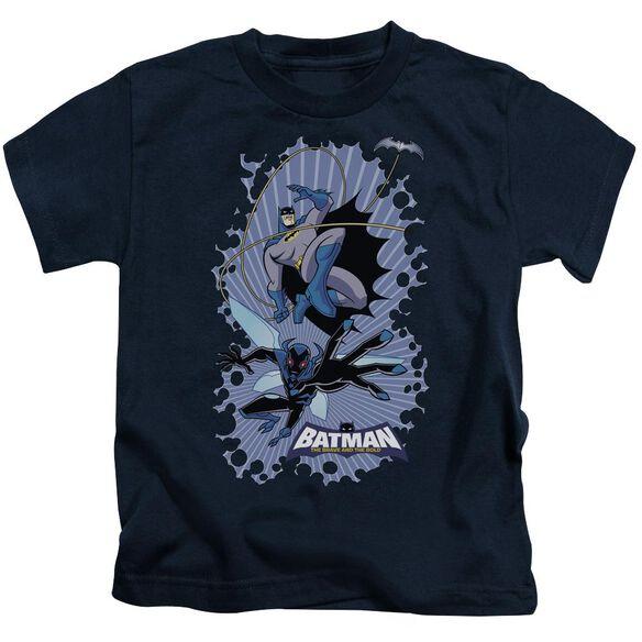Batman Bb Bat Beetle Burst Short Sleeve Juvenile Navy T-Shirt